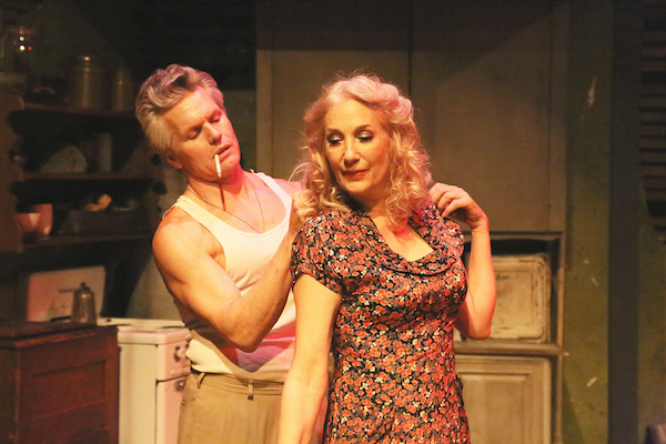 Max E. Williams and Susan Priver get under each other's skin in A Streetcar Named Desire.