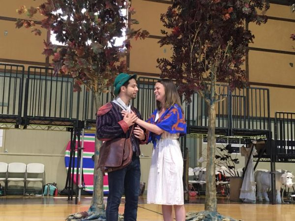 "Skyler Astin as the Baker and Sutton Foster as the Baker's Wife in ""Into the Woods"". Photo by AHaskins."