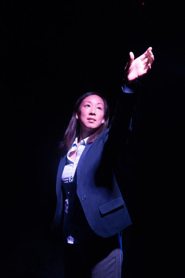 Monica Hong as Hannah in Hannah and the Dread Gazebo at The Fountain Theatre.