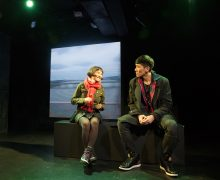 l-r, Wonjung Kim & Gavin Lee in Hannah and the Dread Gazebo at The Fountain Theatre.
