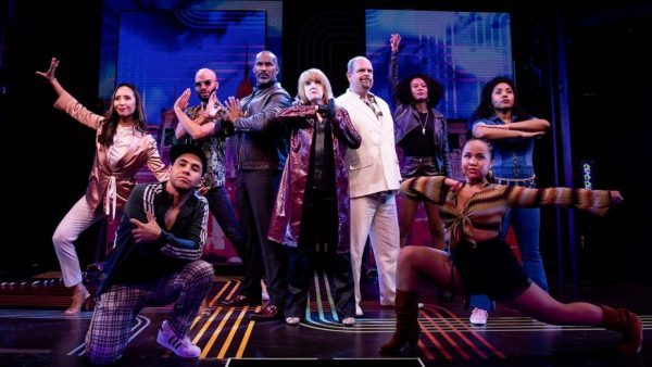 Annie Golden (foreground) with the cast of Broadway Bounty Hunter. Credit: Matthew Murphy