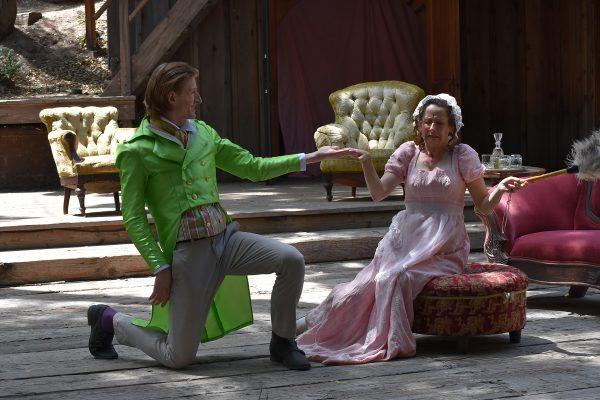 l-r, Frank Weidner & Elizabeth Tobias in Twelfth Night at Theatricum Botanicum.