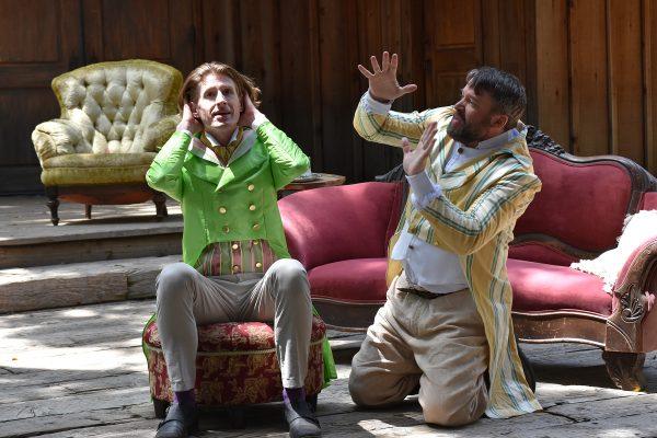 l-r, Frank Weidner & Christopher W. Jones in Twelfth Night at Theatricum Botanicum.