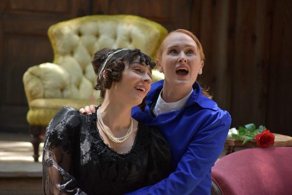l-r, Christine Breihan & Willow Geer in Twelfth Night at Theatricum Botanicum.