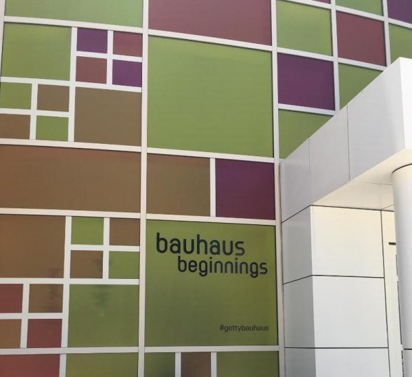 Entrance to Bauhaus Beginnings. Photo by A. Haskins.