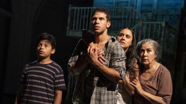 Benjamin Luis McCracken, Alex Hernandez, Sabina Zuniga Varela, and Socorro Santiago in Mojada. Credit: Joan Marcus