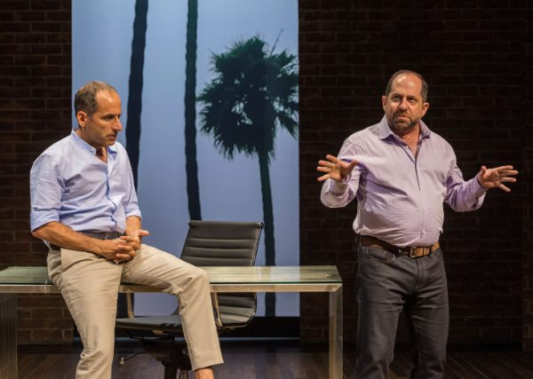 l-r, Peter Jacobson & Jason Kravitz in Inside Talk, part of A Play Is a Poem at Center Theatre Group's Mark Taper Forum.