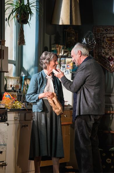 EIleen Atkins and Jonathan Pryce in The Height of the Storm. Credit: Hugo Glendenning