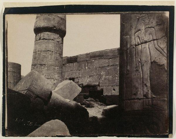 John Beasley Greene, Karnak, Hypostyle Hall, Northern Wall, Interior, No. 3, 1854, Musee d'Orsay, Paris.