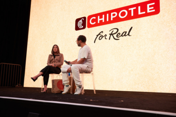 Tessie Lieberman, VP Digital Marketing at Chipotle discusses their recent campaigns with Ross Martin of Blackbird (Credit Photo: IAB)