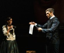 "Evan Jonigkeit and Maura Tierney star in ""Witch"" at the Geffen."