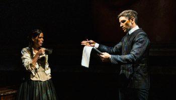 """Evan Jonigkeit and Maura Tierney star in """"Witch"""" at the Geffen."""