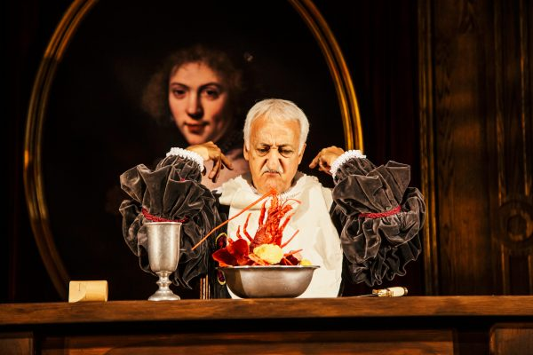 Brian George in Witch at the Geffen Playhouse. Photo by Jeff Lorch.