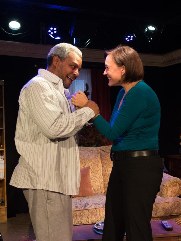 Montae Russell & Lesley Fera in Between Riverside and Crazy at The Fountain Theatre.