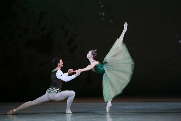 """Mariinsky Ballet in """"Emeralds."""" Photo by Natasha Razina."""