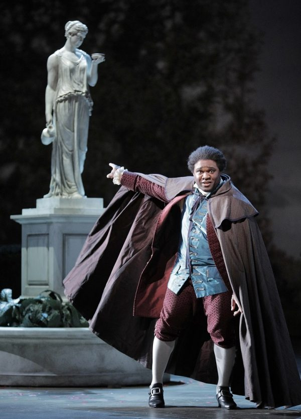 Michael Sumuel as Figaro in Mozart's The Marriage of Figaro. Photo: Cory Weaver/San Francisco Opera.