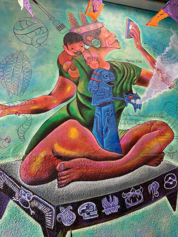 Food mural. 20th November Market. Oaxaca