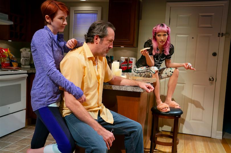 Cora Vander Broek, Ian Barford, and Chantal Thuy in Linda Vista. Credit: Joan Marcus