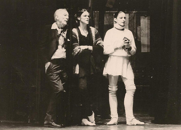 George Balanchine, Patricia Neary and Colleen Neary. Photo courtesy of Colleen Neary.