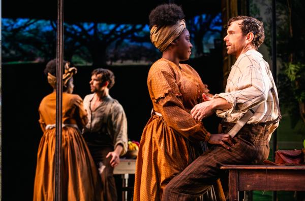 Joaquina Kalukango and Paul Alexander Nolan in Slave Play. Credit: Matthew Murphy
