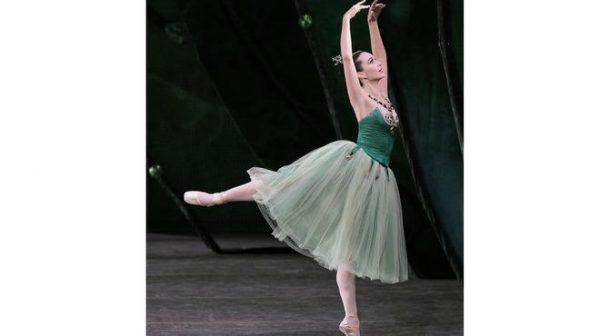 """Jenifer Ringer in """"Emeralds."""" Photo courtesy of New York City Ballet."""