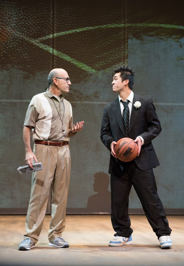 l-r, James Eckhouse & & Justin Chien in The Great Leap, a Playhouse & East West Players co-production at The Pasadena Playhouse.