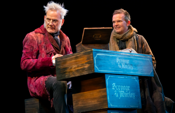 Campbell Scott and Dashiell Eaves in A Christmas Carol. Credit: Joan Marcus