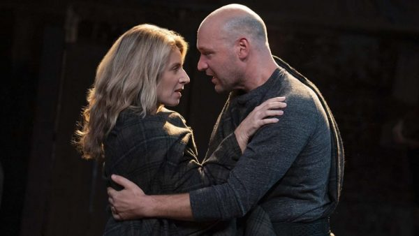 Nadia Bowers and Corey Stoller in Macbeth. Credit: Joan Marcus