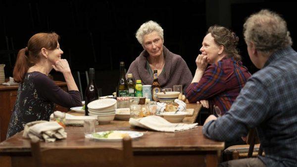 Haviland Morris, Brenda Wehle, Maryann Plunkett and Jay O. Sanders in The Michaels. Credit: Joan Marcus