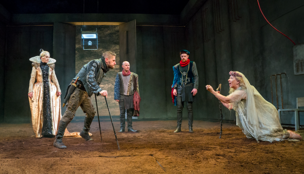Jane Brennan, Aaron Monaghan, Peter Daly, Frank Blake, and Marie Mullen in DruidShakespeare: Richard III. Credit: Richard Termine