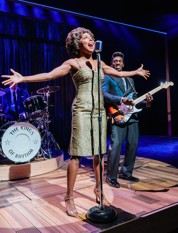 Adrienne Warren and Daniel J. Watts in Tina: The Tina Turner Musical. Credit: Manuel Harlan