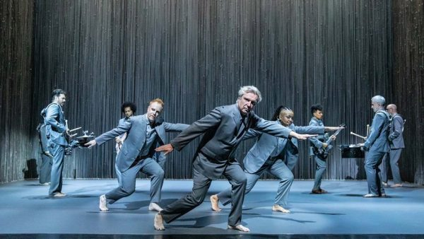 David Byrne and the cast of David Byrne's American Utopia. Credit: Matthew Murphy