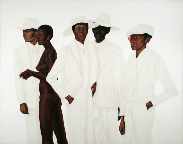 Barkley L. Hendricks, What's Going On, 1974, oil, acrylic, and magna on cotton canvas, © Estate of Barkley L. Hendricks, courtesy of the artist's estate and Jack Shainman Gallery, New York.