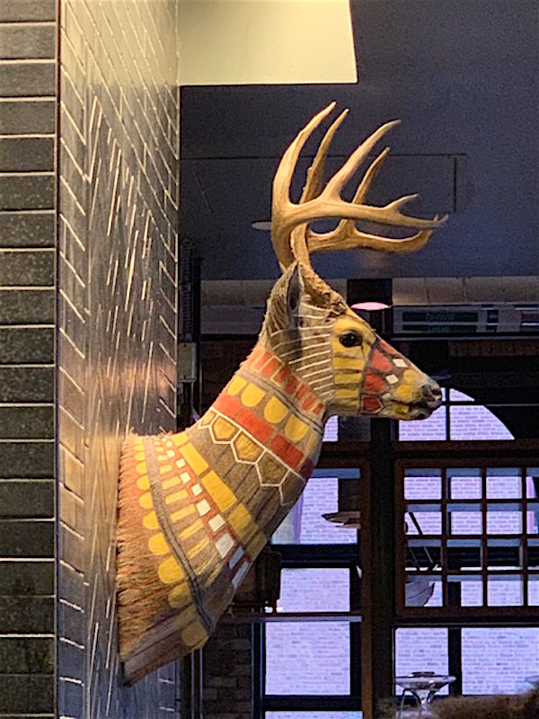 Artist Cassandra Smith's painted deer head / Photo: Theo Page