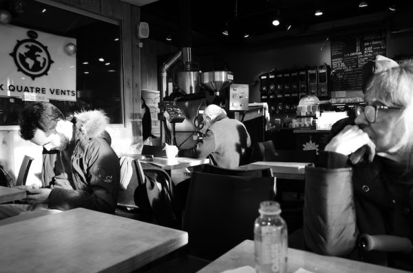 settin, scene, situation and light at a coffee shop