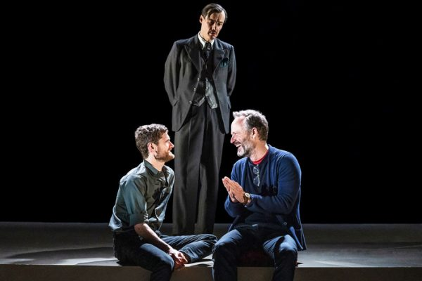 Kyle Soller, Samuel H. Levine, and John Benjamin Hickey in The Inheritance. Credit: Matthew Murphy for MurphyMade.