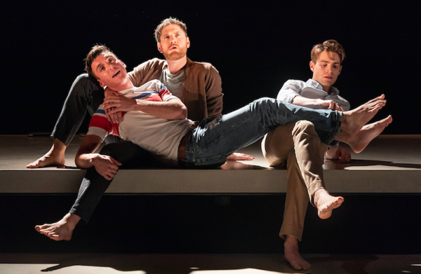 Samuel H. Levine, Kyle Soller, and Andrew Burnap in The Inheritance. Credit: Marc Brenner