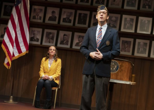 Maria Dizzia & Mike Iveson in What the Constitution Means To Me at the Mark Taper Forum.