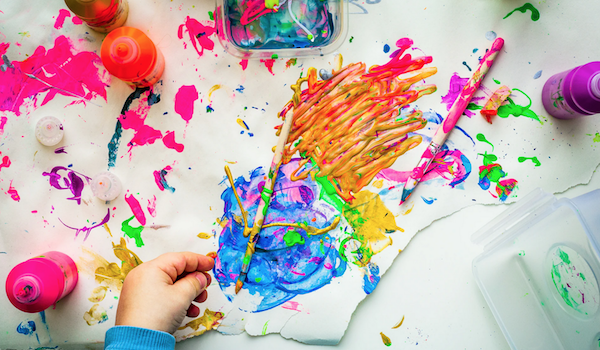 Art, color, paint. Photo by Dragos Gontariu via Unsplash.