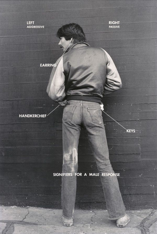 Hal Fischer, Signifiers for a Male Response, from Gay Semiotics, 1977, San Francisco Museum of Modern Art, gift of Richard Lorenz; © Hal Fischer.