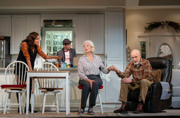 Ashley Park, Michael Urie, Jane Alexander, and James Cromwell in Grand Horizons. Credit: Joan Marcus