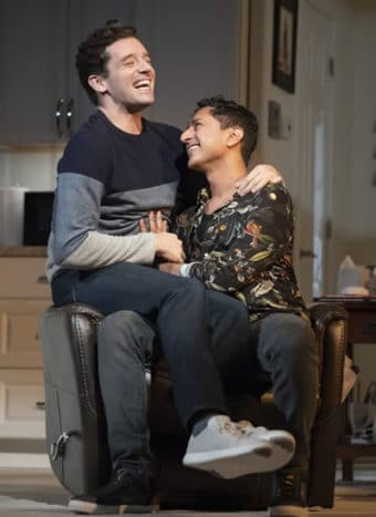 Michael Urie and Maulik Pancholy in Grand Horizons. Credit: Joan Marcus