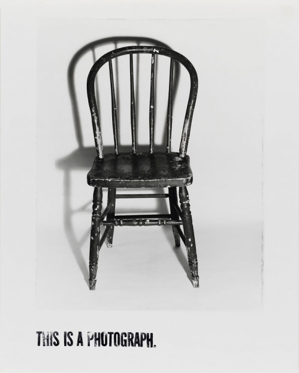 Donna-Lee Phillips, This Is a Photograph, from 100 Small Chairs, More or Less, 1981, San Francisco Museum of Modern Art, Accessions Committee Fund purchase; © Donna-Lee Phillips.
