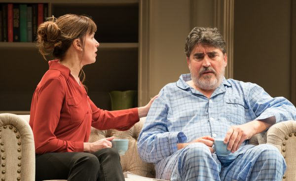 Sue Cremin and Alfred Molina in The Father at The Pasadena Playhouse.