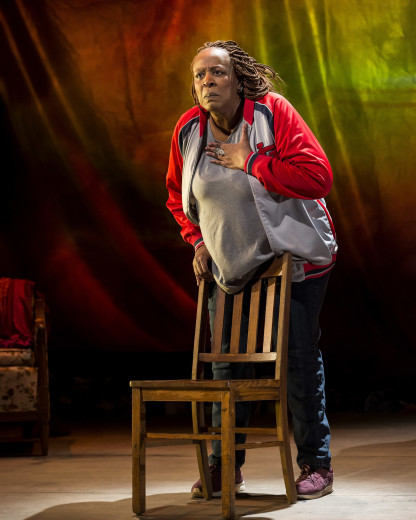 Dael Orlandersmith in Until the Flood, her one- woman piece at the Kirk Douglas Theatre.