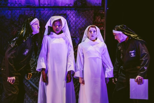 i.r, Tom Myers, Margaret Odette, Beth Hawkes & Noshir Dalal in Revenge Song at The Geffen Playhouse.