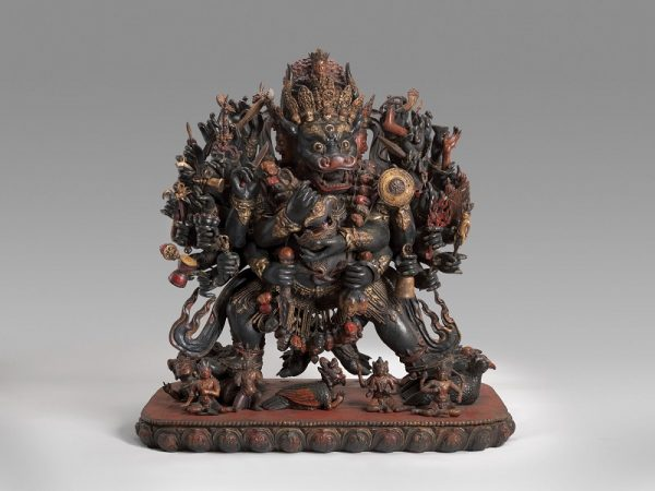 Vajrabhairava, 1400-1500 or later, China, wood with paint; Virginia Museum of Fine Arts, E. Rhodes and Leona B. Carpenter Foundation and Arthur and Margaret Glasgow Fund. Photograph © Virginia Museum of Fine Arts, photo by Travis Fullerton.