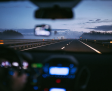 Driving in weather. Photo by Samuele Errico Piccarini via Unsplash.