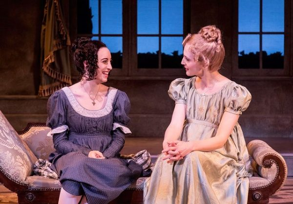 "Jenna Lea Rosen and Samantha Eggers star in the Ensemble Theatre Company's production of ""JANE AUSTEN'S EMMA,"" book, music and lyrics by Paul Gordon, directed by Andrew Barnicle and now playing at the NEW VIC THEATRE in Santa Barbara."