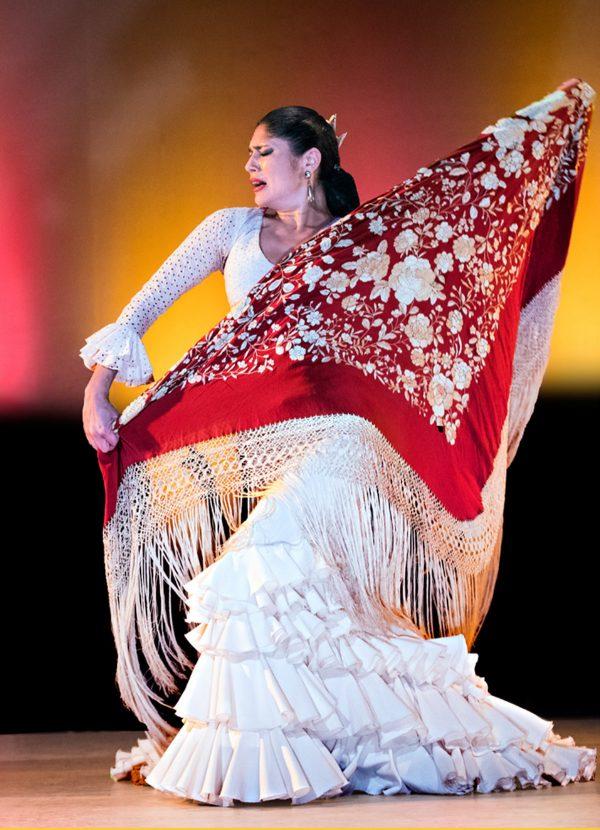 Forever Flamenco's Lakshmi Basile. Photo by Bruce Bisenz.